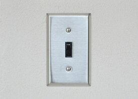 照明フェア 9/30まで送料無料 ステンレスヘアライン1口スイッチプレート