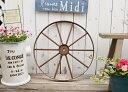 【アイアンホイールLBR】車輪 アイアン 鉄 ジャンク ディスプレイ 置物 ガーデン雑貨 かわいい 庭 ベランダ ジャンク…