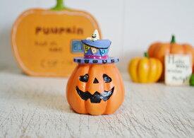 【フラッグハットパンプキンM】ハロウィン雑貨 ハロウィン 雑貨 置物 飾り インテリア 飾り付け ハロウィングッズ グッズ かわいい ミニチュア パンプキン かぼちゃ おしゃれ 帽子