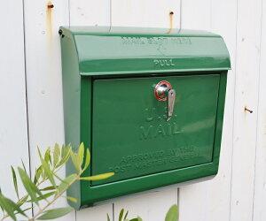 【ユーエスメールボックスGN】 送料無料 U.S.MAILBOX ポスト メールボックス かわいい おしゃれ 玄関 ナチュラル アメリカン フレンチ アイアン スチール アートワークスタジオ ポタフルール