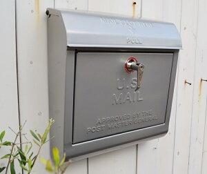 【ユーエスメールボックスSV】U.S.MAILBOX ポスト メールボックス かわいい おしゃれ 玄関 ナチュラル アメリカン フレンチ アイアン スチール アートワークスタジオ ポタフルール