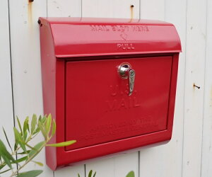【ユーエスメールボックスRD】U.S.MAILBOX ポスト メールボックス かわいい おしゃれ 玄関 ナチュラル アメリカン フレンチ アイアン スチール アートワークスタジオ ポタフルール