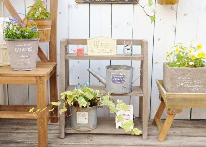 【ディスプレイラックJW】送料無料 木製 3段 ラック 花台 庭 ガーデン家具 ガーデンラック 棚 杉 ジャンク ジャンクガーデニング ベランダ ベランダガーデニング