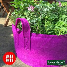 ハーブ 苗 セット 栽培キット 紫のかわいいフェルトプランター 届いたその日から栽培 ハーブ苗専門店