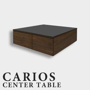 センターテーブル リビングテーブル ローテーブル ウォールナット 幅90cm 北欧 おしゃれ かわいい アンティーク 引き出し 収納付き 木製 ブラックガラス ガラス天板 おしゃれ 正方形 テーブ