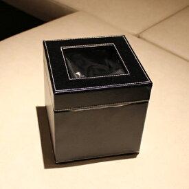 ゴミ箱 ダストボックス レザー調 洗面用 黒W140×D140×H145mm エアファクトリー