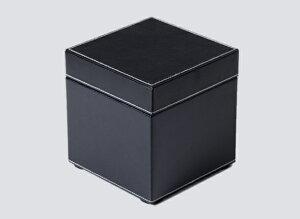 トイレットペーパーケース レザー調 黒 W140×D140×H145mm エアファクトリー
