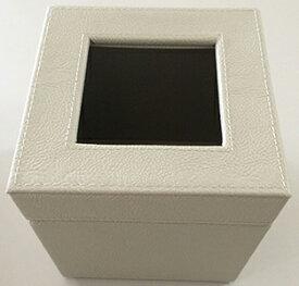 ゴミ箱 ダストボックス レザー調 小サイズ ベージュ W140×D140×H145mm エアファクトリー