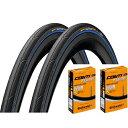 タイヤとチューブ各2本セット Continental コンチネンタル Ultra Sport 3 ウルトラスポーツ 3 クリンチャータイヤ 700…