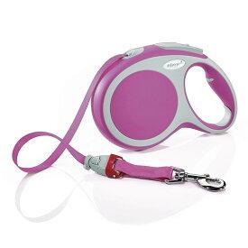 flexi フレキシ 伸縮リード VARIO ヴァリオ テープタイプ Lサイズ 8m ピンク