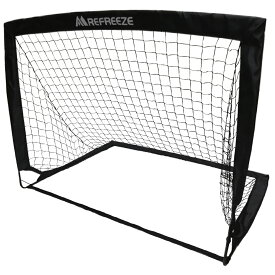 REFREEZE(リフリーズ) 選べる3カラー 折りたたみ ミニサッカーゴール 1個 ブラック 収納バッグ付き ポータブル ポップアップ サッカー フットサル ゲーム 対戦 練習 トレーニング