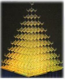 トライタンプラスチックシャンパングラス シャンパンタワー10段フルセット