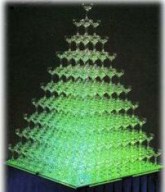 プラスチックシャンパングラス シャンパンタワー15段フルセット