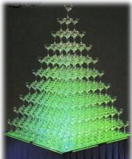 シャンパンタワー 7段フルセット 照明器具付