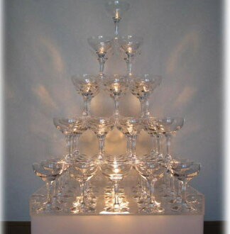Five steps of 付 champagne glass champagne tower set trays are with a van pop