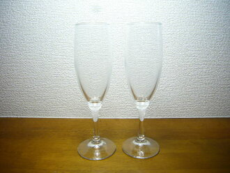 Terrace Japanese flute champagne glass set of 2