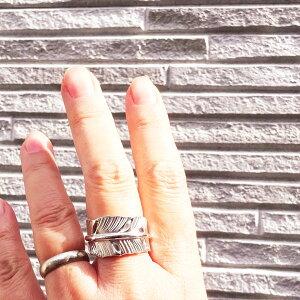 フェザーシルバーリング2020モデル【受注製作】メンズレディース925指輪白頭鷲羽根シルバーアクセ工房オーバーレイ工法銀細工師手作りPOW-WOWエッセンス【9号〜30号まで】