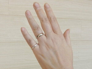 【受注製作】ねじりリングピンキー指輪ツイストリングシルバー職人手作りメンズアクセレディース【1号〜30号まで】