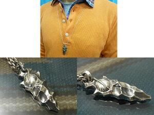 矢じりアローヘッドシルバーペンダント矢尻鏃やじりメンズアクセPOW-WOW銀細工師手仕事いぶし銀一点ものネイティヴ(ネイティブ)スピリット