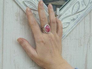 インカローズリング【受注製作】指輪ワイヤーワークロードクロサイト銀細工師の手作りレディースアクセサリー【15号〜20号まで】