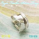 フェザーリング 18金 指輪 シルバーリング 白頭鷲の羽根 レディース メンズ Handmade ネイティブスピリット【♯11号 在庫1】【9号〜25…