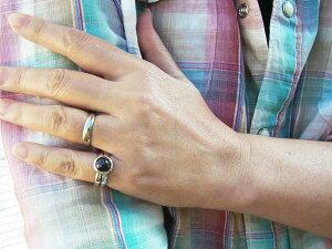 スターガーネットアイダホ州産出【訳あり】激レア天然石シルバーリングアーム部中心の一本ラインと甲丸デザインが新鮮一点もの10.5号