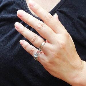 グリーンムーンストーンリング指輪シンプル手作りパウワウRT代官山シルバー職人ハンドメイドレディースメンズ13.5号