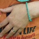 トルコ石ブレスレットターコイズシンプルメンズもOK重ねづけにも手首実寸約15〜17.5cmの方におすすめ