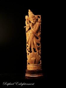 【限定1体】クリシュナ神仏像・インド白檀(サンダルウッド)・総手彫り(仏像)