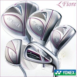 YONEXヨネックスゴルフクラブセット9本組LADYSレディースFioreIronフィオーレドライバーフェアウェイウッドユーティリティーアイアン5本(#7-9,PW,SW)パターFR700カーボンシャフト【18】ゴルフクラブゴルフ用品