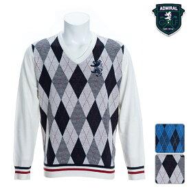 【SALE】アドミラルゴルフ 2019年秋冬モデル メンズ セーター ADMA999 Admiral GOLF【19】