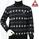 【40%OFF】ルコックゴルフ 秋冬モデル メンズ タートルネックセーター QGMMJL12AP【18】