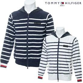 【WEBサイト限定セール!50%OFF!】TOMMY HILFIGER GOLF 春夏モデル トミーヒルフィガー フルジップ ニットパーカー メンズ THMA930【19】
