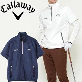 キャロウェイアパレル 2020年秋冬モデル メンズ (241-0216502) 半袖中綿ブルゾン callaway【20】