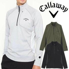 キャロウェイアパレル 2020年秋冬モデル メンズ (241-0233503) ハーフジップハイネックシャツ callaway【20】