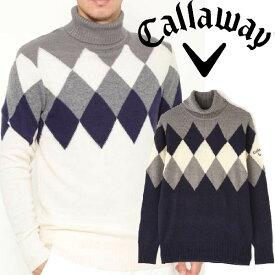 【40%OFF】キャロウェイアパレル 秋冬モデル メンズ セーター 241-9260512 Callaway 【19】タートルネックニット