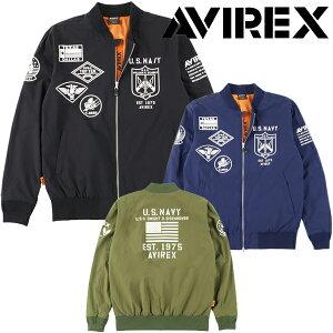 AVIREX(アヴィレックス) 2021年春夏モデル メンズ アビレックス M-1フルジップ ウィンドジャケット BA1-13WJ【21】ゴルフウエア 春 夏 ブルゾン