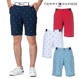 トミーヒルフィガー 2021年春夏モデル メンズ TOMMY HILFIGER THフラッグモノグラム ショートパンツ パンツ thma108 【21】 ゴルフウエア メンズ 春夏