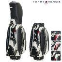 TOMMY HILFIGER トミーヒルフィガー THE FACE キャディーバッグ THMG7SC1【21】キャディバッグ ゴルフ用品 ゴルフバッグ