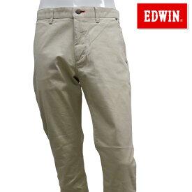 【40%OFF】EDWIN-エドウィン- (メンズ) ノータック レギュラー テーパード チノベージュ ロングパンツ【K80533-16】【春夏モデル】【18】【ボトムス】【ウエア】S,M,L,XLサイズ