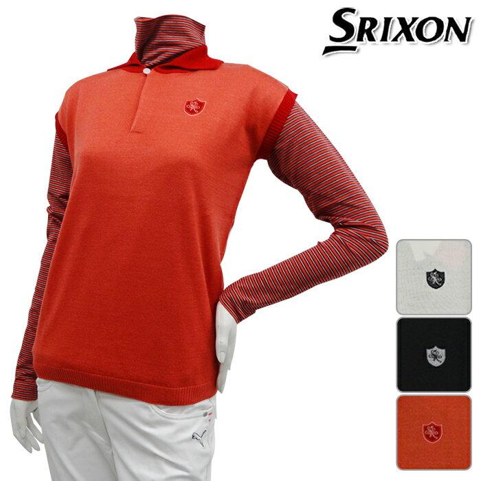 【ニット系】【SLV3507】【秋冬モデル】【50%OFF】DUNLOP-ダンロップ- SRIXON-スリクソン- LADYS (レディース) セーターセット【13】【トップス】【ウエア】【2枚組】M.Lサイズ【ゴルフ用品】