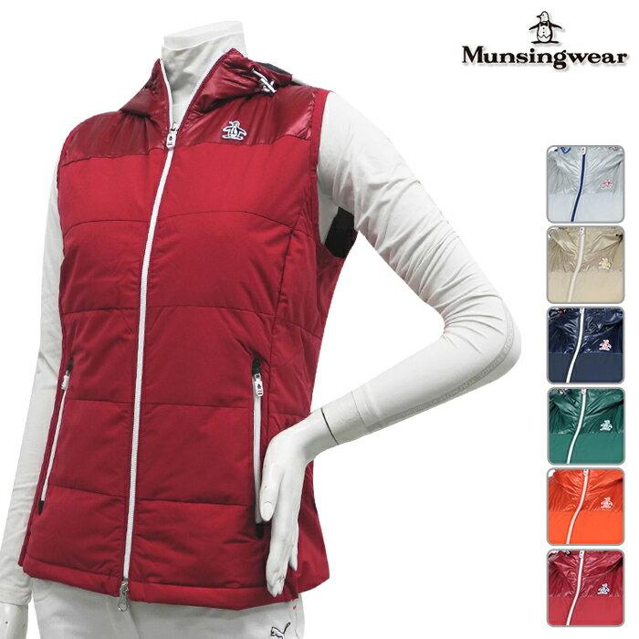 ◆【ベスト系】【SL6568】【秋冬モデル】Munsingwear-マンシングウエア- LADYS (レディース) フルジップ ダウンベスト【16】【トップス】【ウェア】M,L,LLサイズ【ゴルフ用品】