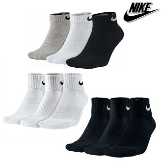 Class three pairs of NIKE Nike ankle socks UNISEX unisex cotton cushion low-cut socks 23-25,25-27, 27-29 size