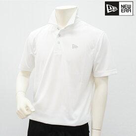NEW ERA ニューエラ メンズ 半袖 シャツ 春夏 11403802春夏モデル テックポロ ホワイト ポロシャツ【18】トップス ウェア M L XL XXL サイズ ゴルフ用品