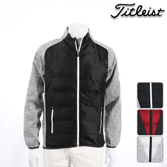 Titleist Titleist men blouson TWMO1850 NEW model batting storm knit hybrid jacket outer S M L LL 3L size golf wear in the fall and winter in the fall and winter