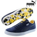 PUMA GOLF Puma golf golf shoes shoes MENS men 191268 NEW fall and winter  model spikesless suede cloth G team EUR shoes 25.5-27.5cm size foot width  2E EE ... 30fd3d929