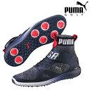 PUMA GOLF Puma golf golf shoes shoes MENS men 191563 NEW  モデルイグナイトパワーアダプトハイトップチーム USA shoes 25.5-27.5cm size foot width 2E EE golf ... 488124137