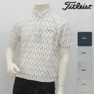 Titleist Titleist long sleeves shirt MENS men TWMC1803 NEW model long sleeves tea whole pattern polo shirt topsware M L LL 3L size golf article in the fall and winter in the fall and winter