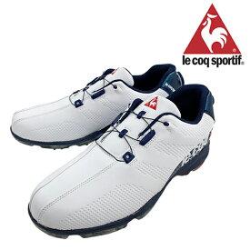 ルコック 2019年モデル メンズ ゴルフシューズ 靴 ヒールダイヤル式 WLS 防水 軽量 ホワイトブルー 3E 24.5cm〜28.0cm le coq【19】ゴルフ qq2nja00