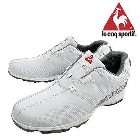 【40%OFF】ルコック メンズ ゴルフシューズ 靴 ヒールダイヤル式 WLS 防水 軽量 ホワイト 3E 24.5cm〜28.0cm le coq【19】ゴルフ qq2nja01